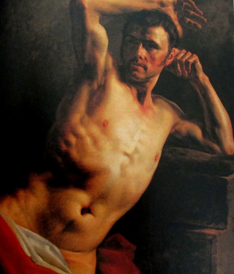 Theodore Gericault | Man Naked to the Waist